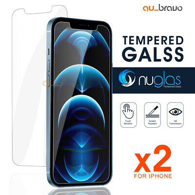 AU8.95 • Buy 2x NUGLAS IPhone 13 12 Mini 11 Pro Max Tempered Glass Screen Protector For Apple