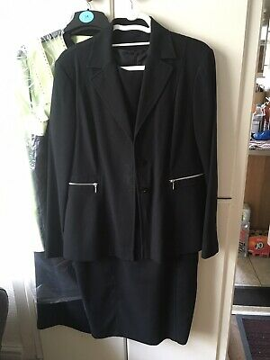 Black Shift Dress And Long Jacket • 4.60£