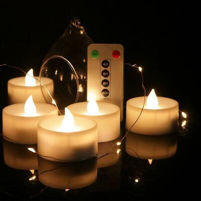 LED Candle Lights 6 Keys Electronic Remote Control Rechargeable Tea Light Flamel • 6.59£