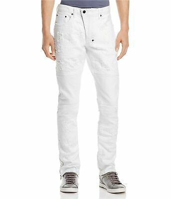 Prps Goods & Co. Mens Distressed Regular Fit Jeans, White, 32W X 32L • 117.86£