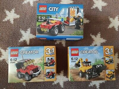 NEW Lego City 60105 & Creator 31040 31041 - Small Sets Retired Mini Collectable • 35£
