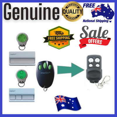 AU13.99 • Buy Replacement Merlin+ C945 CM842 C940 C943 Bearclaw Plus Garage Remote Control