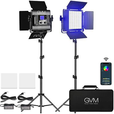 GVM Great Video Maker 800D RGB Video Light, 2 Packs RGB Video Lighting Kit • 249.95£