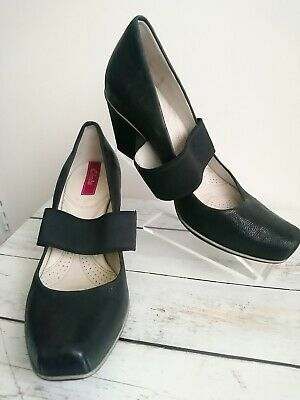 Clarks Size 5 Shock Absorb Black Leather Court Shoes Work Wedding Party • 22£