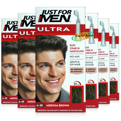 £50.99 • Buy 6x Just For Men Ultra Easy Comb In Autostop A35 Medium Brown Hair Colour Dye