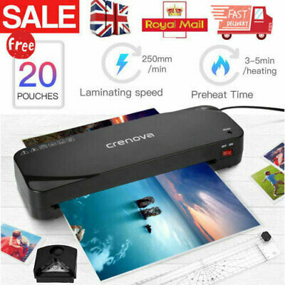£20.99 • Buy A4 Laminator Laminates A4 & A5 Hot Cold Laminating Machine For Office Home Black