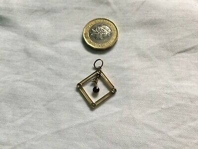 Antique Edwardian 9ct Gold Seed Pearl And Amythst Pendant • 19.99£