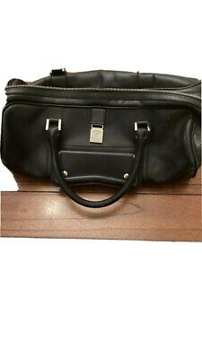 Aspinall Of London Black Leather Bag • 50£