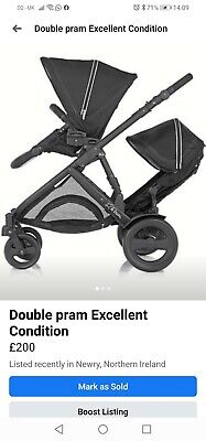 Double Pram B Dual Britax Excellent Condition  • 160£