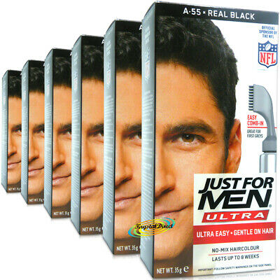 £50.99 • Buy 6x Just For Men Ultra Easy Comb In Autostop A55 Real Black Hair Colour Dye