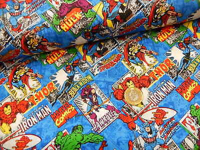 Superhero Fabric Marvel Comics  Camelot 100% Cotton Quilting/craft Per Half Mt • 6£