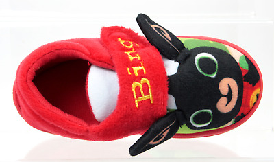 £11.99 • Buy Bing Bunny Slippers Boys Girls Official Cbeebies Touch Fasten Uk Size 5-10 3d