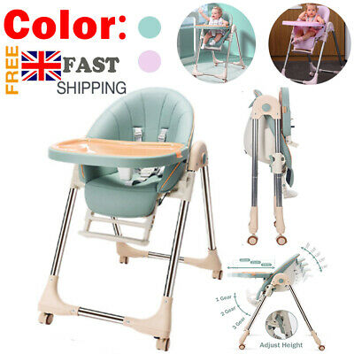 £49.99 • Buy 5 In 1 Adjustable Baby Highchair Foldable High Chair Recline Feeding Seat Table