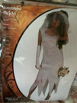Halloween Zombie Bride Costumes Adult Women Size Small • 6£