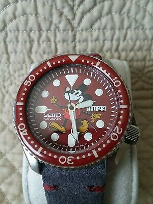 $ CDN90.46 • Buy Seiko Automatic Diver 7S26-0020 Modified Mickey Mouse Watch