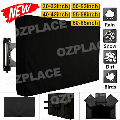 AU19.95 • Buy 30 -65  Inch Waterproof TV Cover Outdoor Patio Flat Television Protector Black
