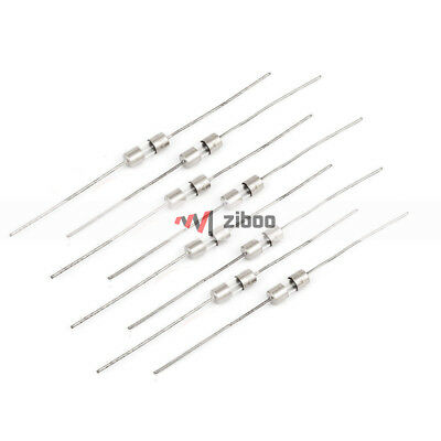 $ CDN7.27 • Buy 10Pcs 3mm X 10mm Axial Leads Fast Acting Glass Fuses Tube 1Amp 250V SilverTone #