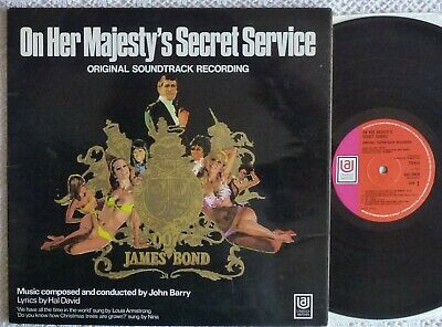 Rare & Ex+  John Barry~on Her Majesty's Secret Service~a1b1~1969 Ua Uk Stereo Lp • 14£