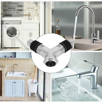 AU16.35 • Buy Washing Machine Dishwasher Y Pipe Connector Dual Appliance Fitting  PVC Material