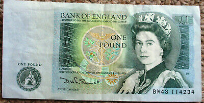 1 Old One Pound Note, Bank Of England,  • 4£