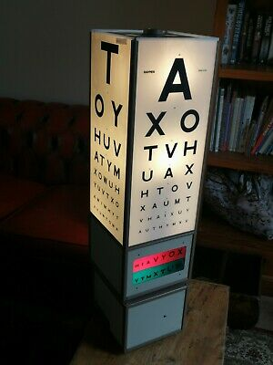 Vintage Optician's Eye Test Light Box Revolving Optometrist Chart British Made  • 495£