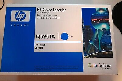 HP Genuine Q5951A Cyan Toner Cartridge 643A HP Laserjet 4700 Sealed Unused • 75£