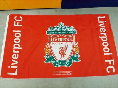 Liverpool FC Official Large Club Crest Flag - 5ft X 3ft. PRESENT GIFT • 9.99£
