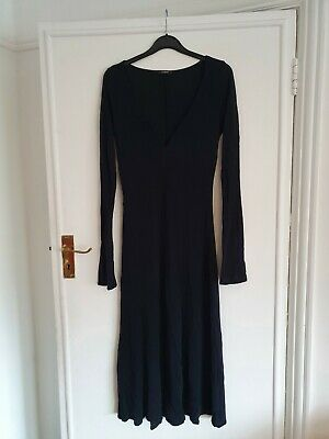 Marks And Spencer Autograph Size 12 Long Sleeved Black Dress • 1.50£