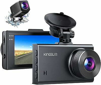 AU77.49 • Buy Kingslim D2 2.5K Dual Dash Cam,1440P&1080P Front And Rear Camera For Cars