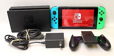 $ CDN396.42 • Buy Nintendo Switch 32GB Console - Blue And Green Joycons TESTED HAC-001(-01) V2
