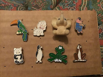 Cute Vintage Animal Pin Badges Set  • 5£