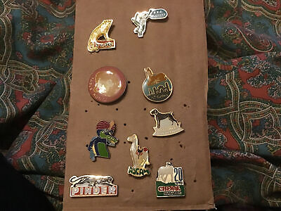 Vintage Cute Animal Pin Badges Some French • 7£