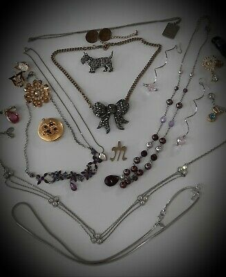$ CDN20.50 • Buy 💥vintage Jewelry Lot Brooches/pins Earrings,lockets,pendants Necklaces,signed💥