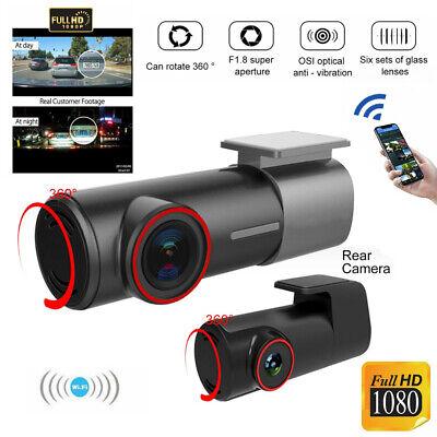 AU88.85 • Buy U700 Dual Dash Car Camera Cam Front And Rear Night Vision WiFi 1080P 170° Angle
