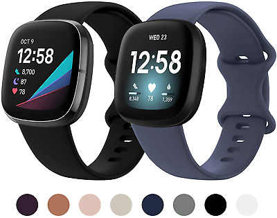 $ CDN19.97 • Buy Fitbit Versa 3 Sense Tracker Band Breathable Soft Sport Silicone Strap 2 Pack