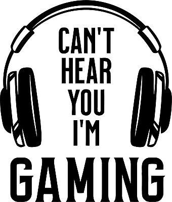 Medium Gamer Decal, Vinyl Sticker,decor, For Wall,playstaion, Xbox, Console • 5.99£