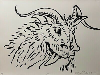 AU1275 • Buy ADAM CULLEN  Goat  Hand Signed, Limited Edition Silkscreen Print WP