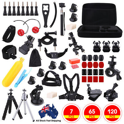 AU28.99 • Buy 120pc Accessories Pack Case Chest Head Bike Monopod Surf For GoPro Hero 5 4 3 2