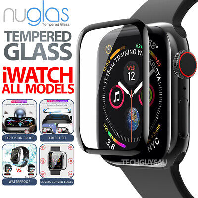 AU6.90 • Buy Genuine Nuglas 3D Curved Full Cover Screen Protector Fr Apple Watch 1 2 3 4 5 6