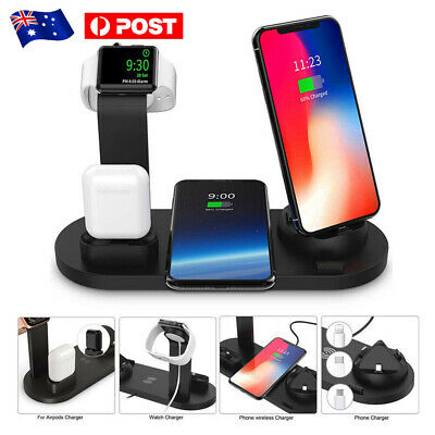 AU25.99 • Buy Qi Wireless Charger Fast Charging Dock Station For Airpods Apple Watch IPhone AU