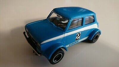 C122 Mini 1275GT Rally Special Blue Scalextric Car Vintage Excellent Rare • 32£