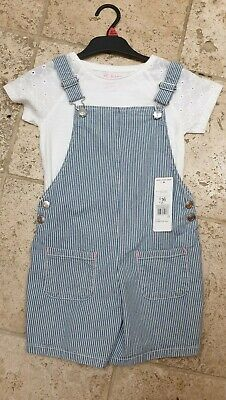 Girls Dungarees (SHORTS) Age 6-7 Years F&F • 7.50£