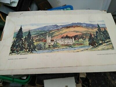 Original Vintage Railway Carriage Print Balmoral Kenneth Steel • 4.99£