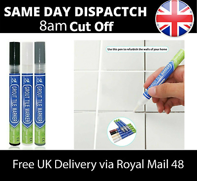 Grout Pen Anti Mould Tile Revives Restores Kitchen Bathroom Tile Grout Marker • 2.95£