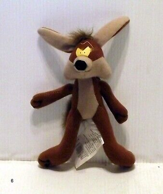 6  Wile E Coyote Soft Toy Plush With Dog Clip Bag Hanger Looney Tunes Roadrunner • 6.99£