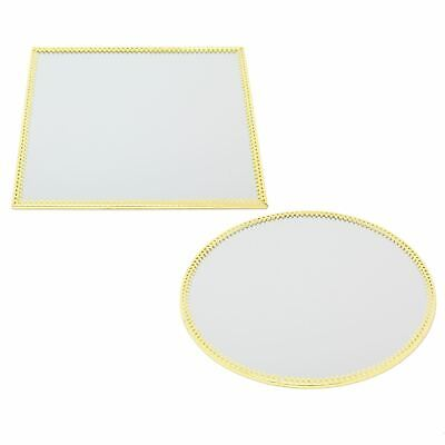 £9.99 • Buy 20cm Decorative Gold Mirrored Candle Tray   Centerpiece Vanity Perfume Tray