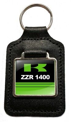 £5.49 • Buy ZZR 1400 Motorcycle Leather Keyring Key Fob Gift For ZZR1400 Keys NOS Parts