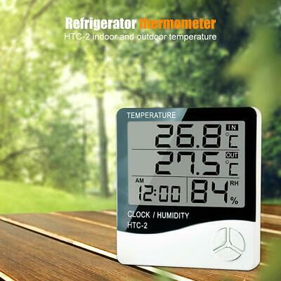 Hydroponics Hygrometer Large Thermometer With Probe Grow Room Grow Tent Digital • 8£