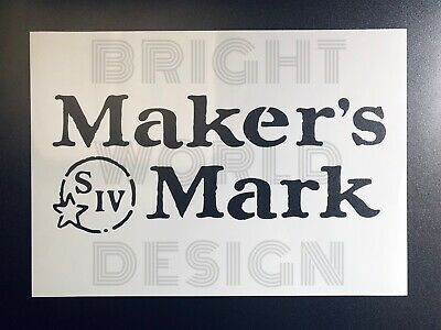 £4.49 • Buy Makers Mark A4/A5 Stencil Bourbon Whiskey Logo Crate Garage Sign Wall Reusable