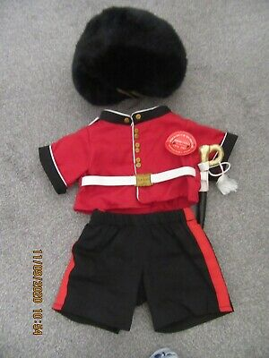 Build A Bear Clothes BABW Royal Guard Queens Guard Busby Hat Tunic & Trousers • 4.20£
